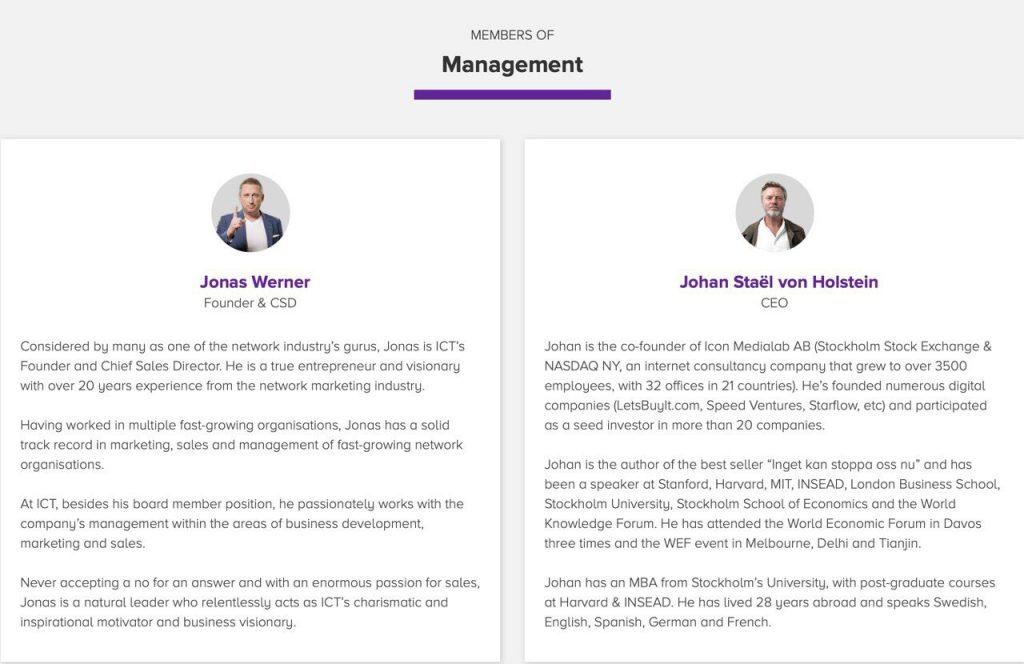 Đội ngũ dẫn dắt dự án Crowd1 - Ban quản trị | Dự án Crowd1 đang tạo nhiều tiếng vang trên thế giới, bên cạnh đó là những đồn đoán, những suy luận hay những ý kiến về việc Crowd1 lùa gà, Crowd1 lừa đảo làm cho dự án này càng được sự quan tâm của báo chí cũng như càng nổi tiếng và phát triển mạnh hơn. Đội ngũ dẫn dắt dự án Crowd1 ngoài Johan Staël Von Holstein, CEO, người hiện diện trên mọi sự kiện của Crowd1 thì còn có ai nữa? Vui lòng theo dõi thông tin bên dưới.