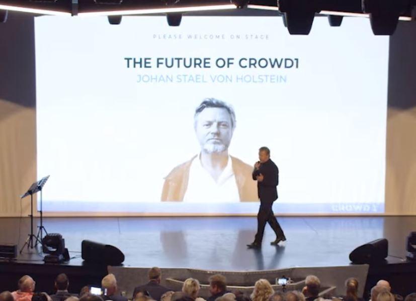 Johan Staël von Holstein và kế hoạch IPO Crowd1 trị giá tỷ đô la $$$.