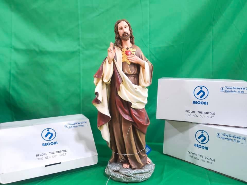 Tượng Thánh Giuse Hoa Huệ 25 cm Tượng Công Giáo đẹp nhất