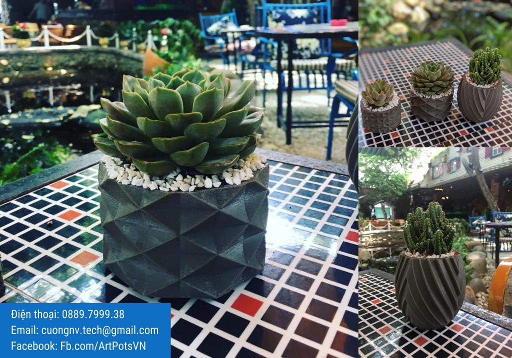 Chậu Cây Mỹ Thuật - ArtPots VietNam | Xưởng sản xuất chậu cây mini để bàn đẹp. Công ty ArtPots VietNam sản xuất Chậu Cây Mỹ Thuật mini để bàn, sen đá đẹp.
