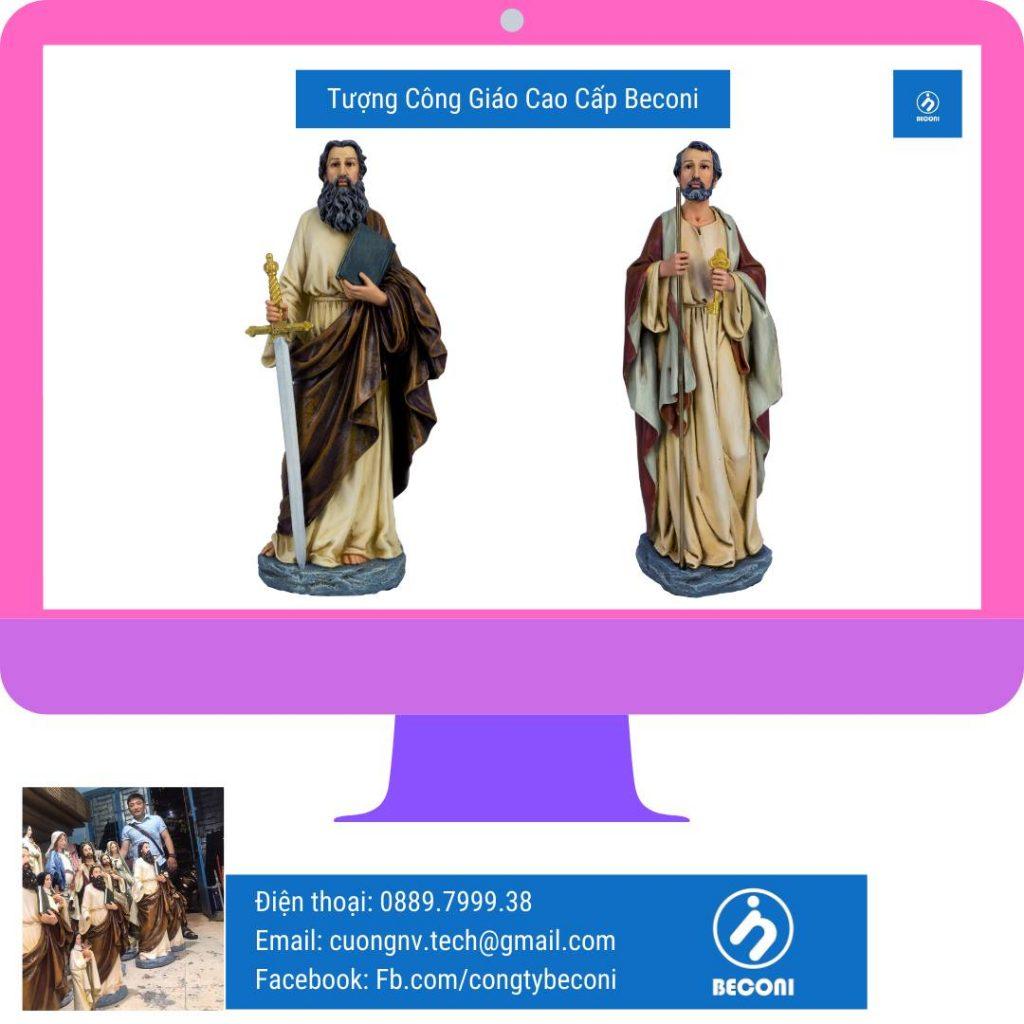 Điêu khắc Tượng Công Giáo bằng nhiều loại vật liệu khác nhau tại Beconi. Vật liệu đá, xi măng, resin, composite, polyresin, resin, đá, ngọc quý & bán quý.