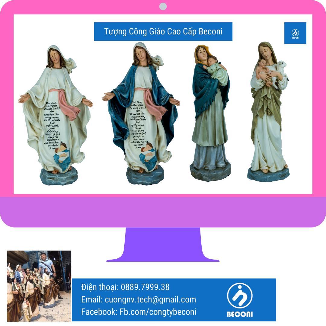Tượng Đức Mẹ Ban Ơn Đẹp – Mẫu Ý Cổ điển Phục Hưng Beconi