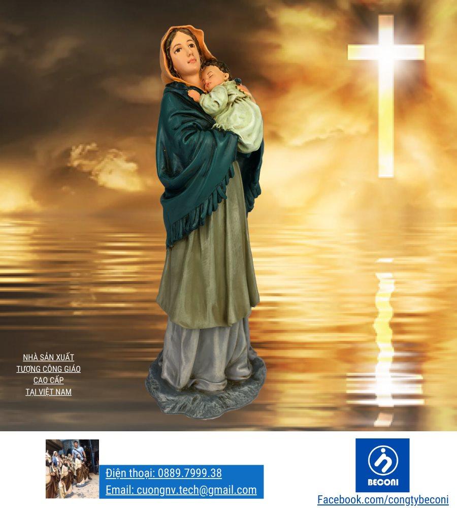 Tượng Đức Mẹ Bế Chúa là tượng công giáo đẹp