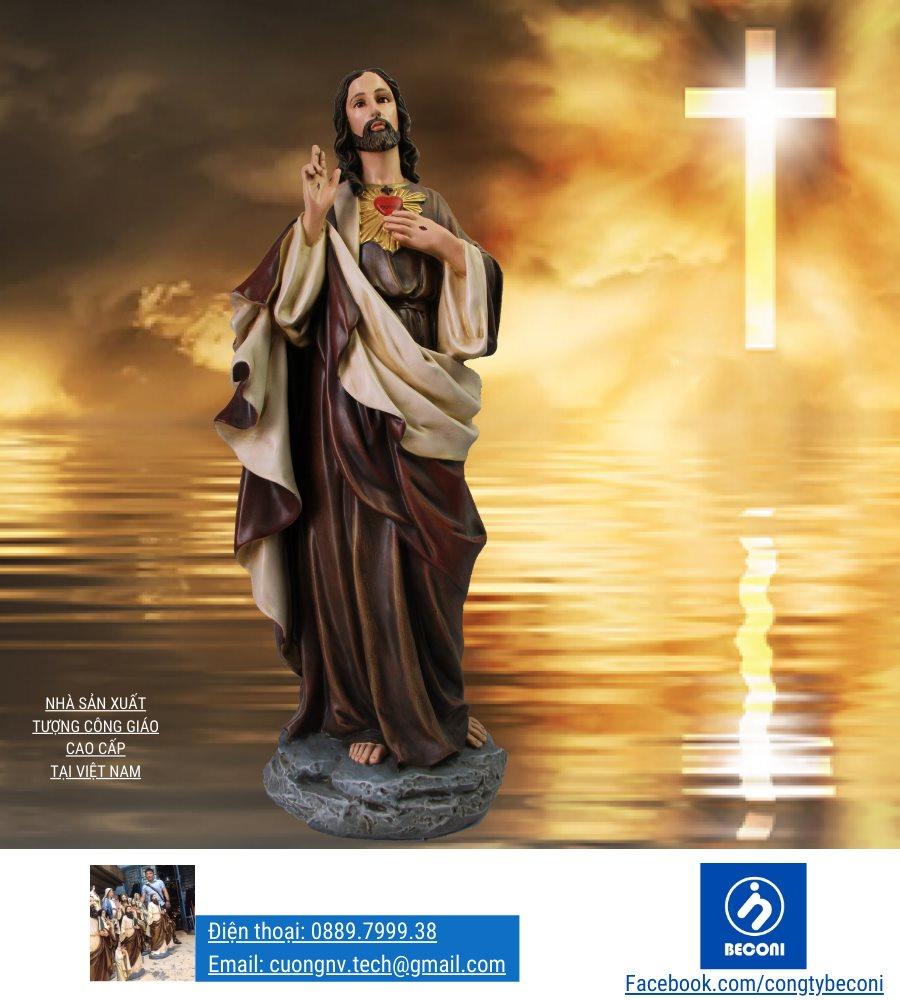 Tượng Thánh Tâm Chúa / Chúa Trái Tim là Tượng Công Giáo đẹp