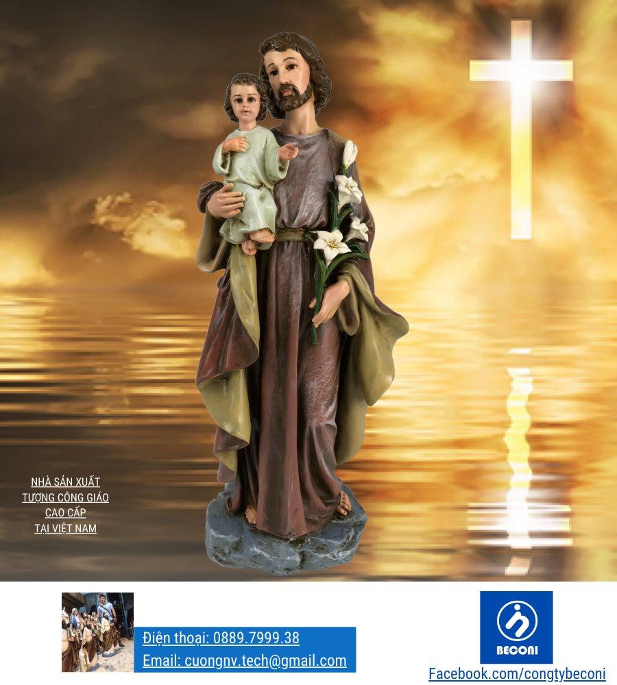 Tượng Thánh Giuse Bế Chúa là Tượng Công Giáo đẹp