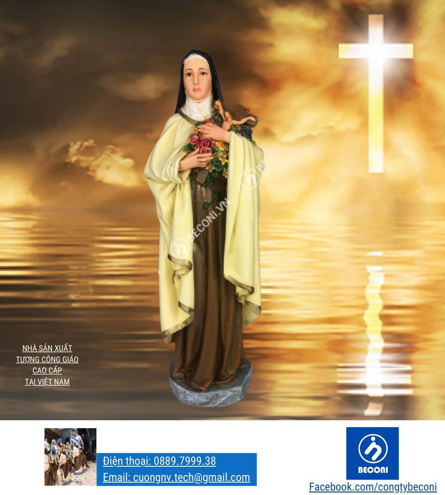 Tượng Thánh nữ Teresa Hài Đồng Chúa Giesu - Nhà sản xuất Beconi