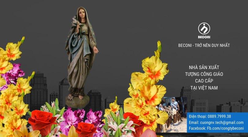 Tượng Đức Mẹ Hoa Huệ đẹp nhất tại Beconi