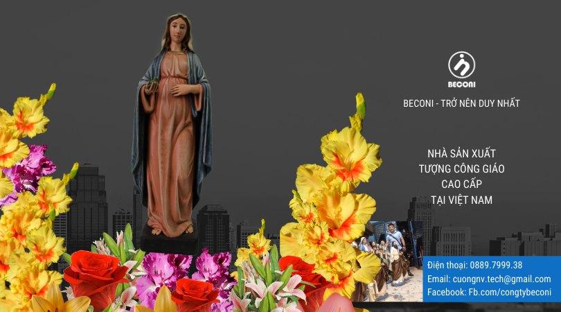 Tượng Đức Mẹ Đẹp Nhất - Tượng Đức Mẹ sản xuất tại Beconi Viet Nam. Đức Mẹ Bãi Dâu, Đức Mẹ Hoa Huệ, Đức Mẹ Ban Ơn, Đức Mẹ Núi Cúi, Đức Mẹ La Vang | BECONI