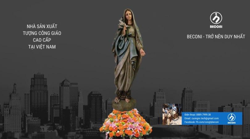 Tượng Đức Mẹ Hoa Huệ - Tượng Công Giáo