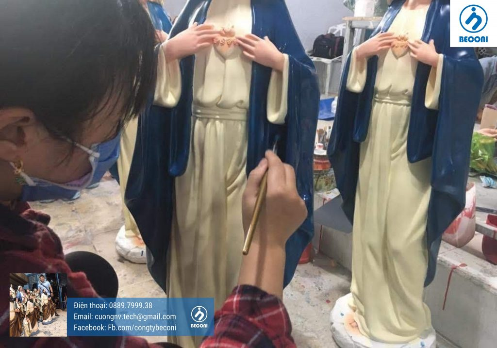 Tượng Công Giáo Ý - Italia được Beconi sản xuất tại Việt Nam, quy trình sản xuất Tượng Công Giáo Cao Cấp hàng đầu.