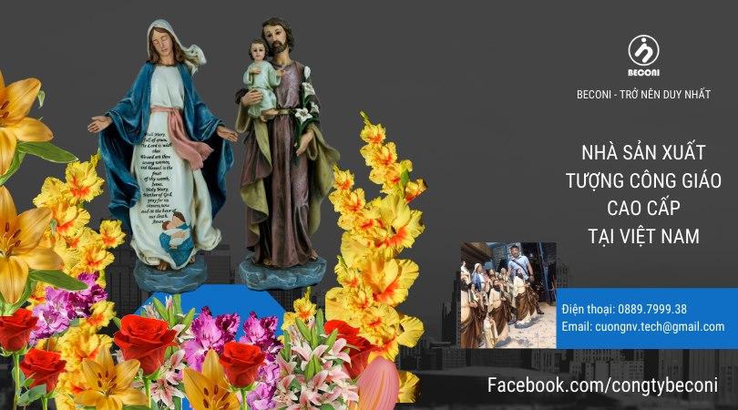 Tượng Đức Mẹ Ban Ơn, Tượng Thánh Giuse Bế Chúa- Beconi