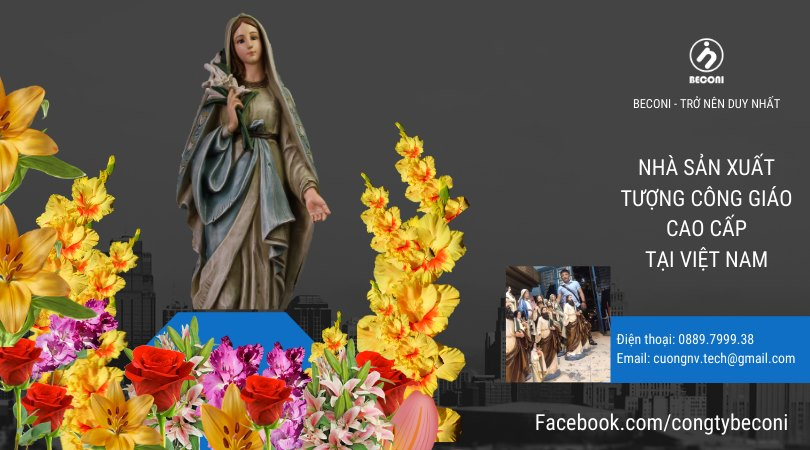 Tượng Đức Mẹ Hoa Huệ - Beconi