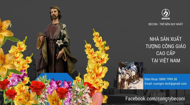 TƯợng thánh giuse hoa huệ - Beconi