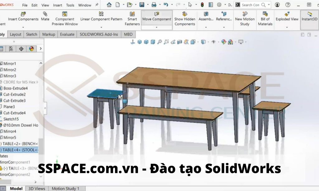 Học Solidworks quận Tân Phú - TPHCM |tại Trung tâm SSPACE