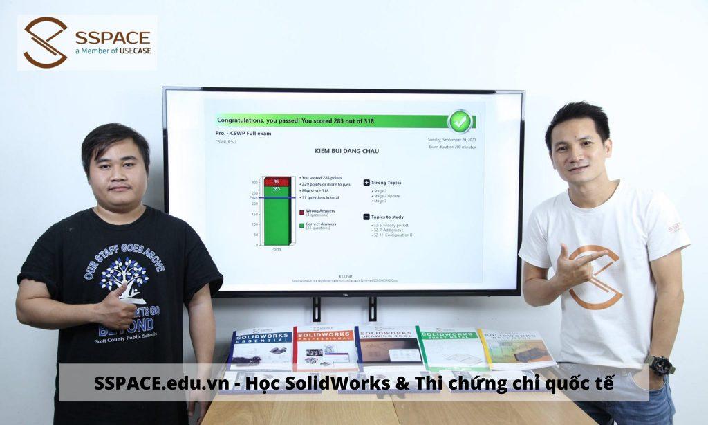 Chứng chỉ - Học SolidWorks chứng chỉ quốc tế - Giới thiệu việc làm SolidWorks TPHCM và lân cận. Chứng chỉ SolidWorks của hãng được sử dụng toàn thế giới. Ở Việt Nam, SSPACE tổ chức đào tạo và thi lấy chứng chỉ quốc tế tại Việt Nam.