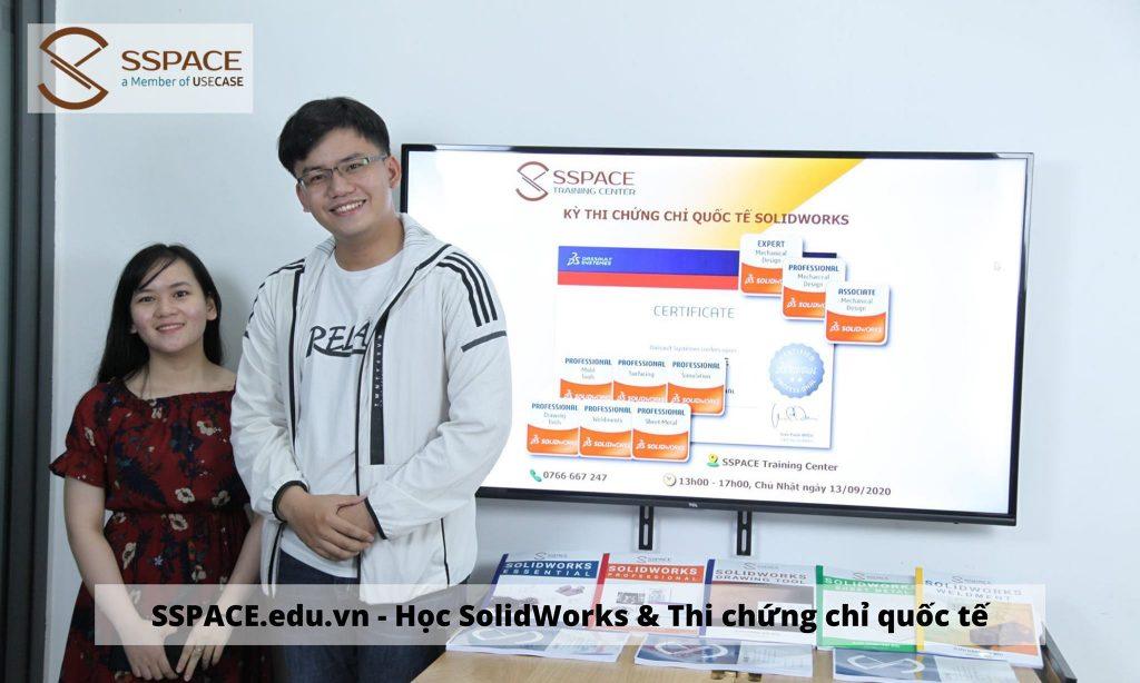 Trung tâm SSPACE Học SolidWorks chứng chỉ quốc tế - Giới thiệu việc làm SolidWorks TPHCM và lân cận. Chứng chỉ SolidWorks của hãng được sử dụng toàn thế giới. Ở Việt Nam, SSPACE tổ chức đào tạo và thi lấy chứng chỉ quốc tế tại Việt Nam.