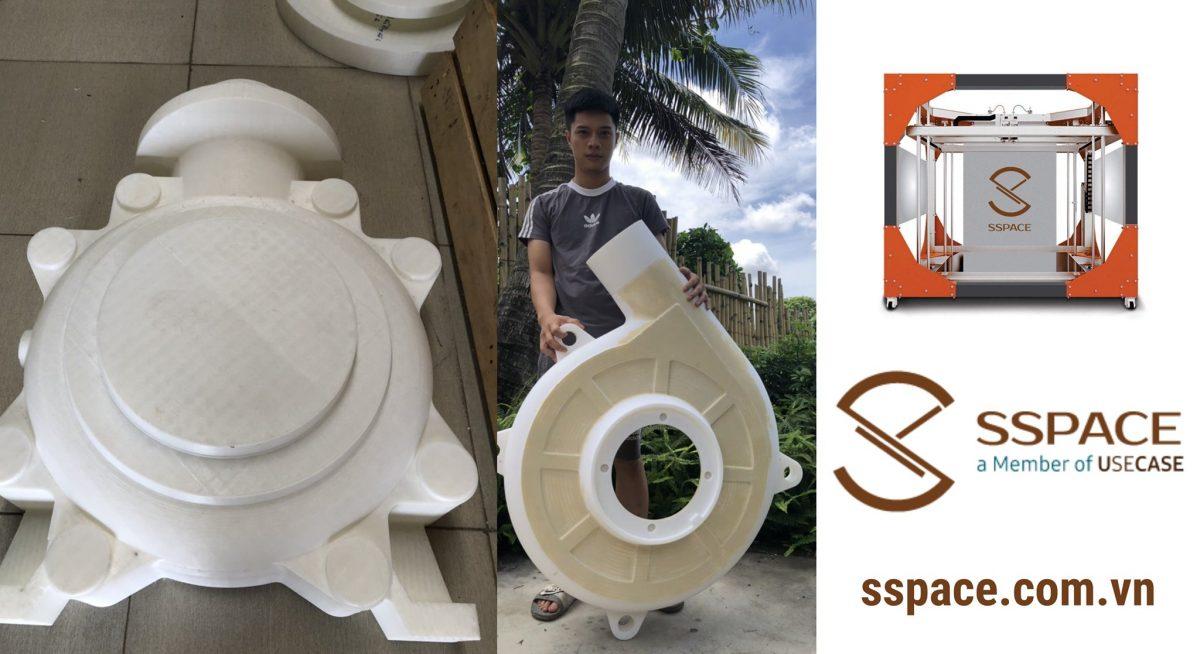 Dịch vụ in 3D Tây Nguyên – In 3D khổ lớn với máy in SSPACE