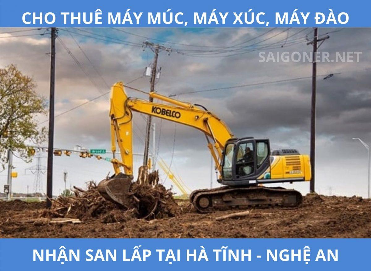 Cho thuê máy múc, máy xúc, máy đào, san lấp… tại Cẩm Xuyên – HàTĩnh24h