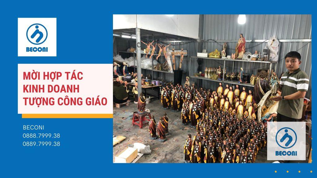 Tượng Công Giáo Beconi được sản xuất trên quy trình thủ công hoàn toàn, nguyên liệu ngoại nhập cao cấp. Đang được xuất khẩu đến 27 nước trên toàn thế giới. Tại Việt Nam, Beconi kinh doanh tại các Nhà sách Công Giáo trên toàn quốc, và các cửa hàng tại nhiều tỉnh thành trên cả nước.