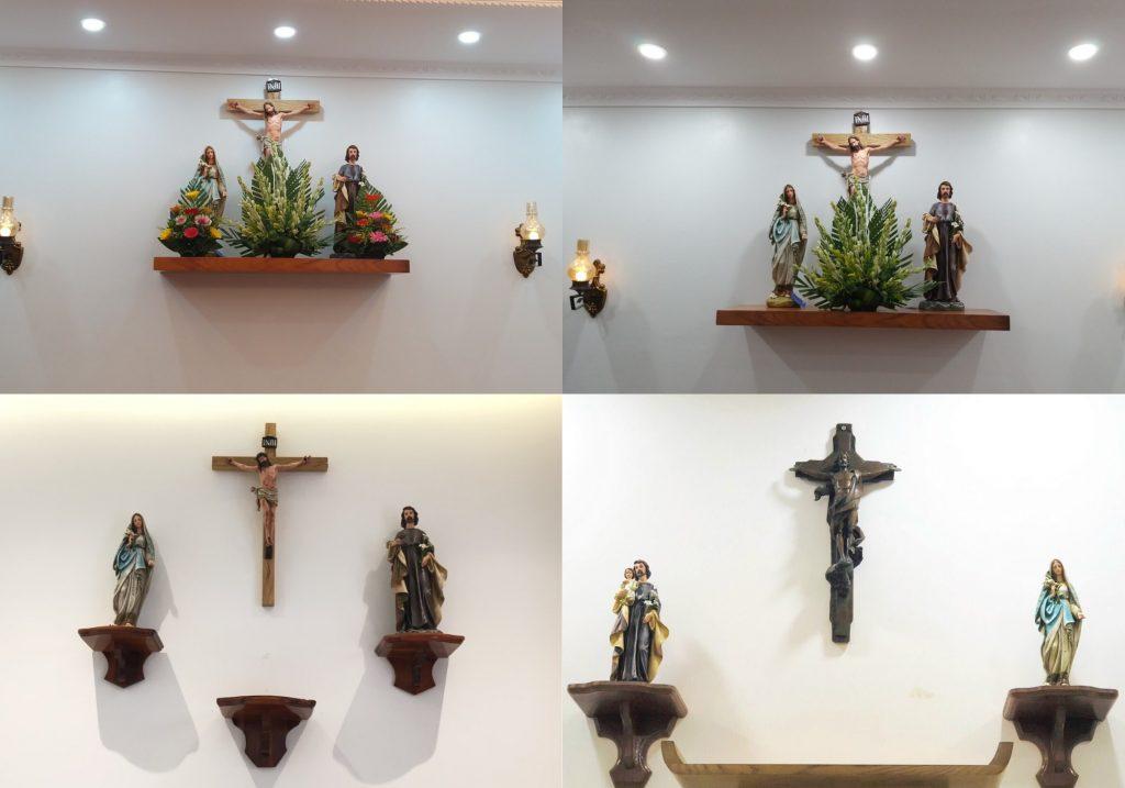 Bàn Thờ Chúa Phòng Khách ( hay Bàn Thờ Công Giáo phòng khách) mẫu đẹp, được bán chạy nhất tại catholicvn.com, saigoner.net hân hạnh được giới thiệu đến quý vị. Bàn Thờ Chúa chính là nét đẹp văn hóa nhiều đời nay của Người Công Giáo. Trên Bàn Thờ Chúa luôn có Tượng Chúa Giesu, Tượng Đức Mẹ Maria, Tượng Thánh Giuse; bên cạnh đó còn có thể có Tượng Thánh Bổn Mạng: Anton, Phaolo, Phero ... kèm theo đó là: Nến, đèn, Hoa tươi... Cách đặt Bàn Thờ Chúa thì có nhiều quy chuẩn khác nhau, chỉ có một vài điều là bắt buộc tuân thủ, còn lại chúng ta có thể đặt hay sắp xếp sao cho hài hòa, tôn nghiêm và trang trọng tùy thuộc theo điều kiện kinh tế, không gian của nhà hay chung cư. Bàn Thờ Chúa tại Việt Nam, giao đi miễn phí toàn quốc, và quốc tế. Bàn Thờ Chúa (Bàn Thờ Công Giáo phổ biến giao đi các tỉnh: Hải Phòng, Hà Nội, Nam Định, Thái Bình, Nghệ An, Đà Nẵng, TPHCM, Bà Rịa Vũng Tàu, Biên Hòa - Đồng Nai,...