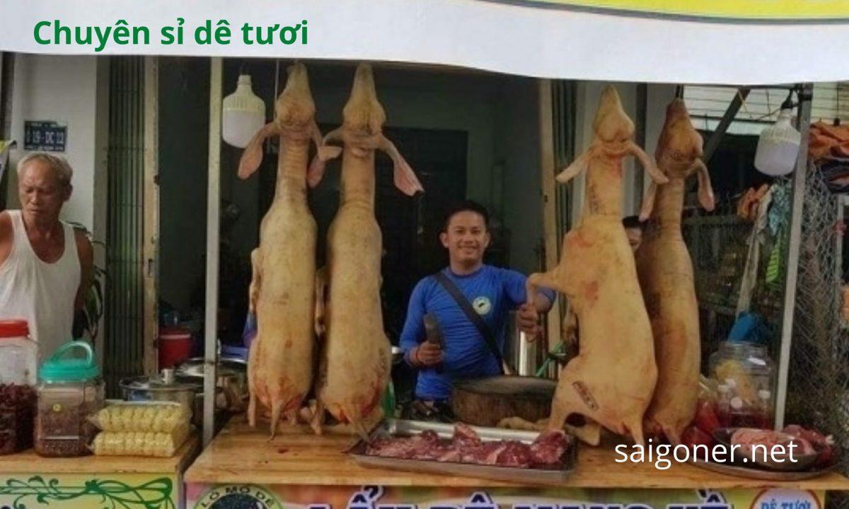Bỏ sỉ Thịt dê, dê nguyên con, TPHCM – BD – ĐN giá buôn, quán nhậu